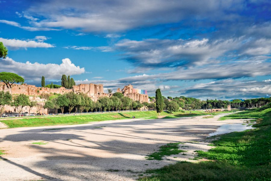 68363612 - circus maximus - roman famous ruins in rome at sunny summer day, italy