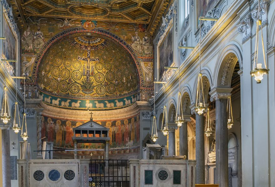 The Basilica of Saint Clement is a Roman Catholic minor basilica dedicated to Pope Clement I located in Rome, Italy. Interior of the church