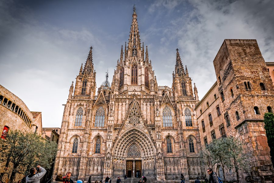 Barcelona Cathedral, Catalonia, Spain.